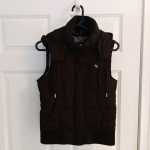 Abercrombie & Fitch Brown puff vest