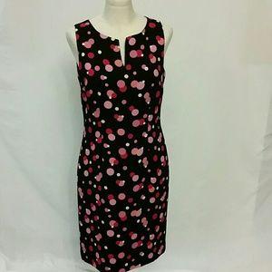 Amanda Smith polka-dot sheath sleeveless dress 8