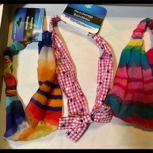 NWT, bundle of 3 ADORABLE HAIR BANDS