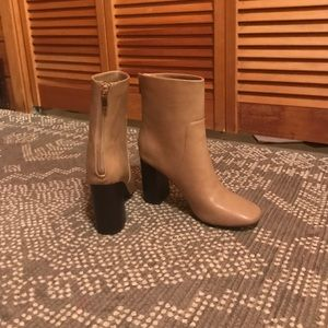 Forever 21 tan leather ankle boots