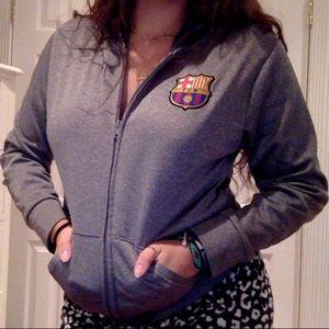 FC Barcelona zip up jacket