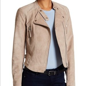 NWT Faux Suede Moto Jacket