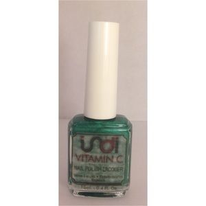 indi vitamin c nail polish forest green