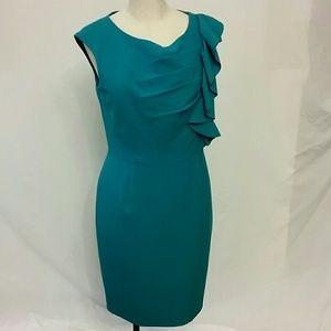 Calvin Klein stretch Sheath dress teal 12