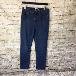 Free People Women's Blue Skinny Jeans Denim Pants