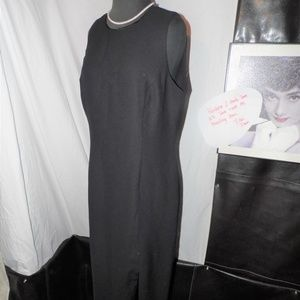 Liz Clairborne A-Line Black Dress Open Back sz 14