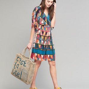 NWT anthropologie maeve geo print dress