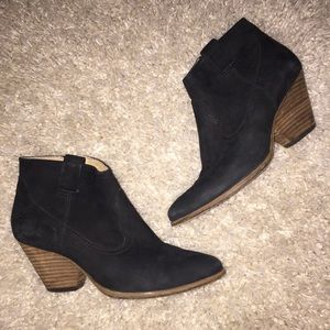 FRYE Reina Ankle Boots Booties, Black, Size 6