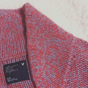 American Eagle Pink & Blue Warm Woven Sweater