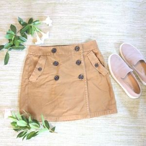 J.CREW Marching Mini Wrap Skirt