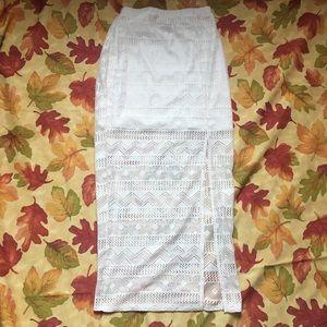 Boho Cream Maxi Skirt