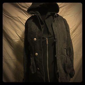 Diesel winter coat with inner hoodie lining