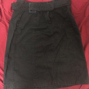 Ann Taylor black skirt with separate belt