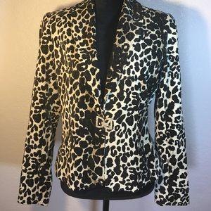 NYGARD COLLECTION Black/White Animal Print Jacket