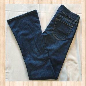 Vince blue med/dark wash flare jeans