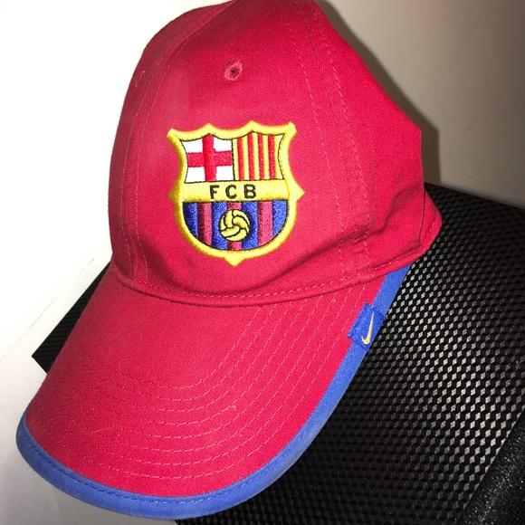a1a3e73eb6d NIKE FC Barcelona Soccer Hat Barca Sports Cap. M 59c9fc986a5830d46b0b3cc6