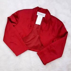 David's Bridal 3/4 sleeve Jacket Apple Med