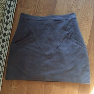 LF Suede Mini Skirt