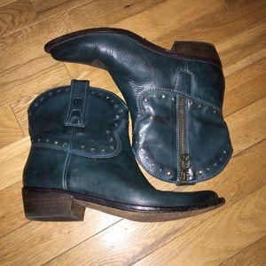 Women's Lucky Brand cowboy boots short zipper
