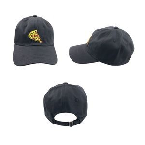 Pizza logo Dad hat cap strap back black hats caps