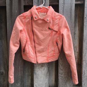 Peach denim jacket