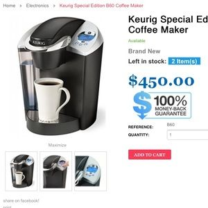 Keurig Coffee maker whith water Filter