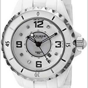 Arkibos XXIV Allura White Ceramic Watch NWOT