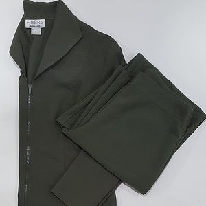 Army Green Suit Set