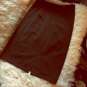 Slimming black pencil skirt
