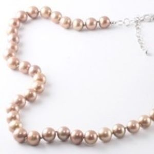 Fresh Water Pearl, bronze colored necklace