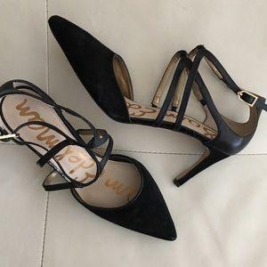 -new- Sam Edelman, Beautiful Strappy Heels - Black