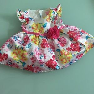 Beautiful floral dress for baby