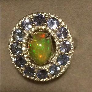 Lolite & Fire Opal ring 925 MAKE OFFER