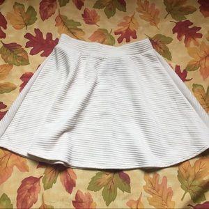 Cream Circle Skirt