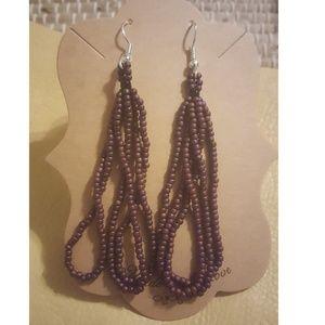 Loop Beaded Earrings
