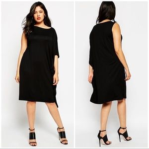 NWT Asos Curve Black Jersey Dress