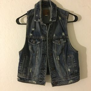 American Eagle Denim Vest