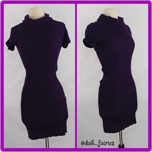 Purle turtle neck sweater