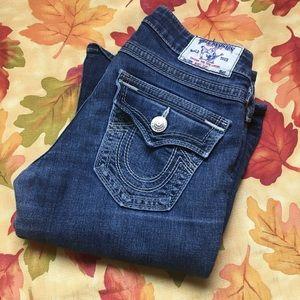 True Religion White Stitch Jeans