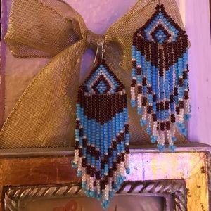 Lovely tribal beaded earrings