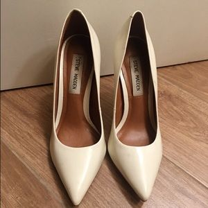 White Steve Madden Pumps