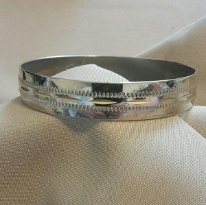 Modern Etched steel bangle