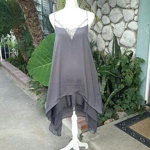 NWT GREY STRAPPY PLUS SIZE DRESS