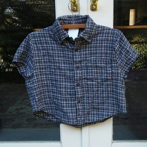 Brandy Melville Felix Plaid Flannel Button Up