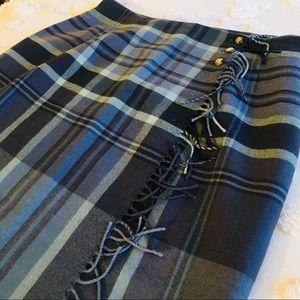 Ralph Lauren Wool Maxi Wrap Skirt