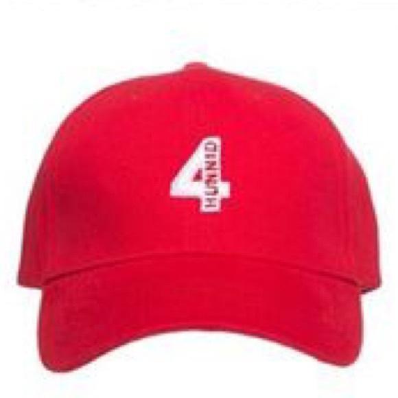 bc7e0fad8aa 4hunnid Accessories - yg 4hunnid 4 logo velcro hat
