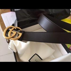 Brand New UNISEX Gucci GG Marmont Belt In Black