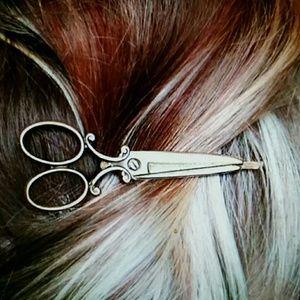 1 pc Gold Scissor Hair Pin Hair Accessory