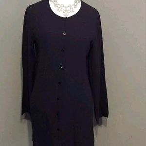 Eileen Fisher size M Black  Buttodown dress
