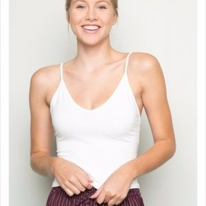 Brandy Melville White Joanne Tank Top